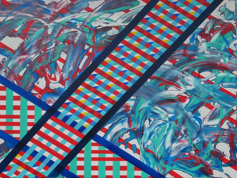 linear and frantic abstract art