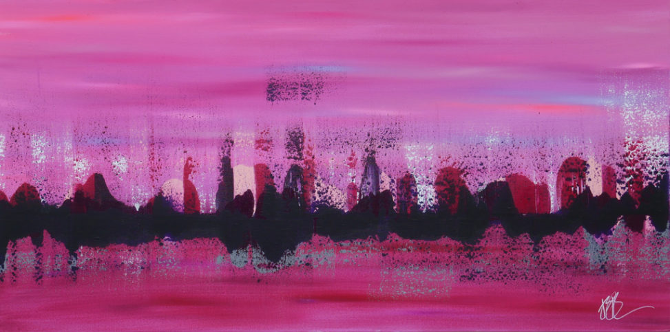 pink and purple abstract horizon